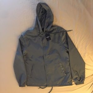 Sage Forever 21 Hooded Jacket with Snaps